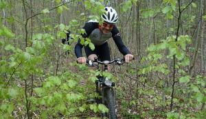 Martin freut sich im Trail