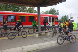 Endstation für den Zug und Start für uns in Korbach