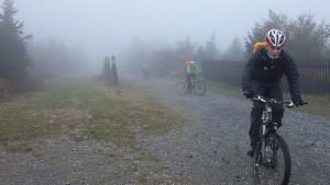 Auffahrt zum Gipfel vom Fichtelberg