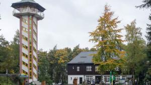 Unser Quartier auf dem Scheibenberg. Das gleichnamige Berggasthof.