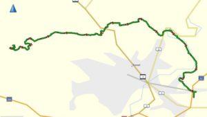 Die Route zur Anreise auf den Dörnberg