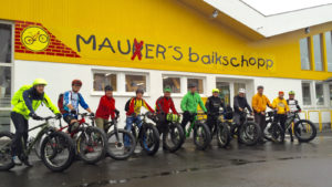 Startaufstellung für die Tour nach Hirschhagen