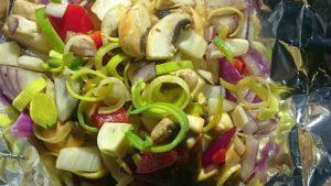 Inas Beitrag für den Overnighter: Lecker Gemüsepäckchen :)